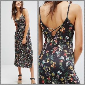 NWT TOPSHOP floral maxi slip dress